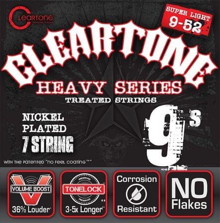 Cleartone 9409-7 Struny pro sedmistrunnou elektrickou kytaru