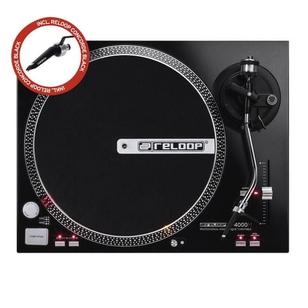 RELOOP RP-4000M + Concorde Black DJ gramofon s přímým náhonem