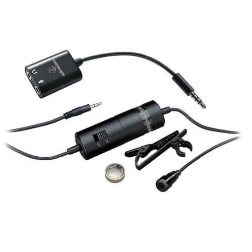 Audio-Technica ATR3350iS Kondenzátorový klopový mikrofon