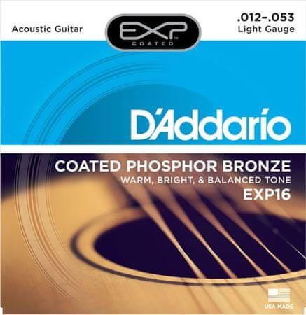 Daddario EXP16 Kovové struny na akustickú gitaru