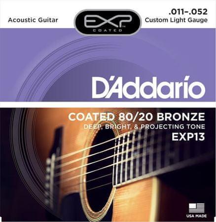 Daddario EXP13 Kovové struny na akustickú gitaru