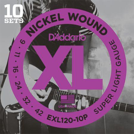 Daddario EXL120-10P Struny na elektrickú gitaru (10 súprav)