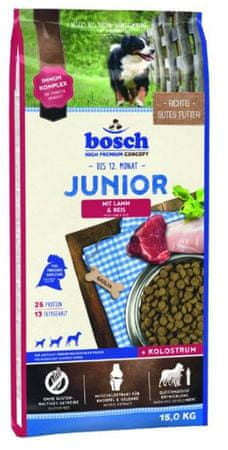 Bosch hrana za pasje mladičke Junior, jagnjetina in riž, 15 kg (nova receptura) - Poškodovana embalaža