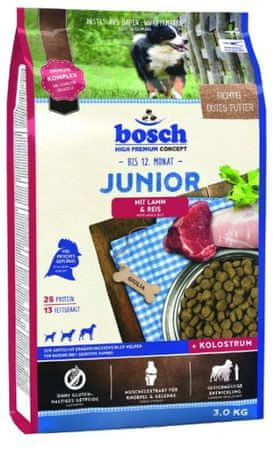 Bosch hrana za pasje mladičke Junior, jagnjetina in riž, 3 kg (nova receptura) - Poškodovana embalaža
