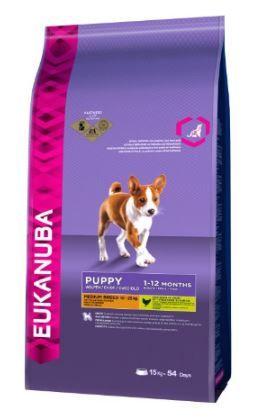 Eukanuba hrana za mladičke srednjih pasem, 15 kg - Poškodovana embalaža