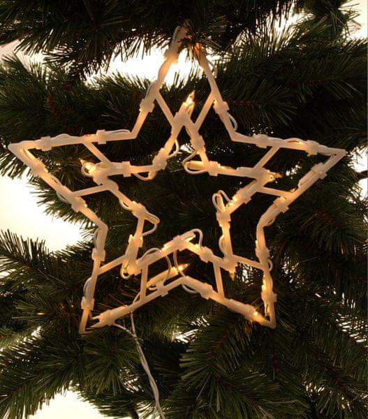 Metalac Svítící dekorace do okna Hvězda 35 žárovek