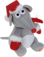 Metalac Vianočná hrajúca a tancujúca myš