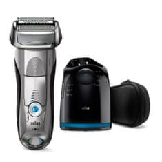 Braun brivnik Series 7-7899 cc Clean & Charge, Wet & Dry, srebrn