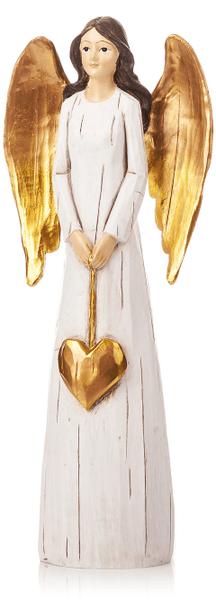 Decorium Anděl Gold s dlouhými křídly