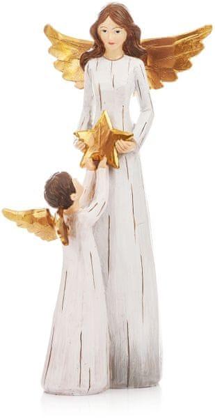 Decorium Anděl Gold s andílkem