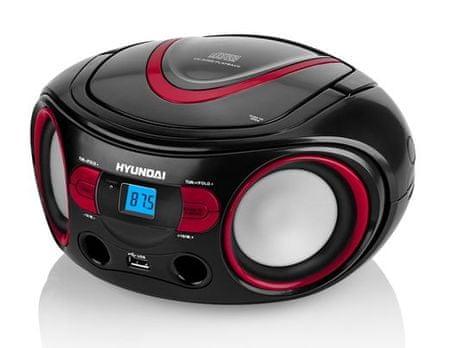 HYUNDAI radioodtwarzacz TRC 533 AU3, czerwony/czarny