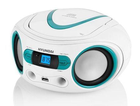 HYUNDAI radioodtwarzacz TRC 533 AU3, biały/niebieski