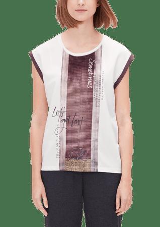 s.Oliver dámské tričko 38 smetanová