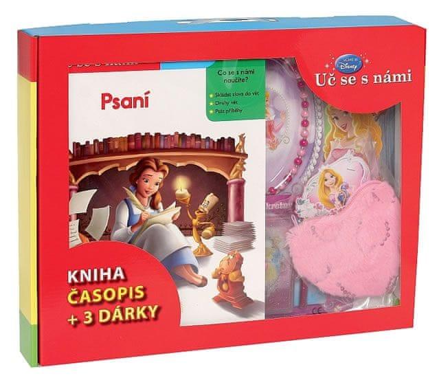 Disney Walt: Kufřík Uč se s námi - Psaní (kniha, časopis + 3 dárky pro princezny)