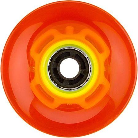 Nijdam LED kolesa za rolke 60x45 mm, oranžna/rumena
