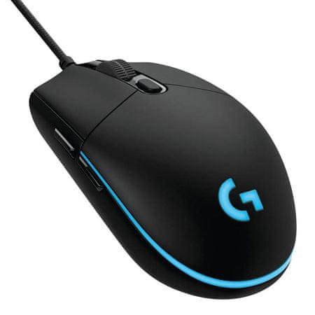 Logitech optična miška Gaming G Pro, črna
