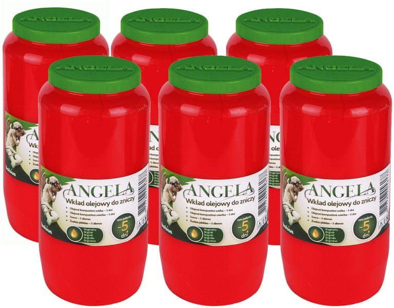 Bolsius Velká hřbitovní svíčka Angela 6 ks