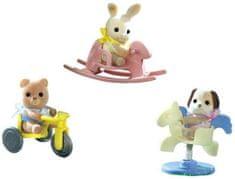 Sylvanian Families Baby príslušenstvo - šteňa, medvedík, králik