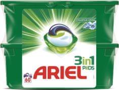 Ariel Mountain Spring 3v1 gelové kapsle na praní 60 ks