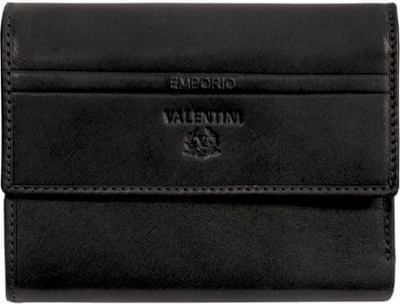 Emporio Valentini usnjena denarnica 563-1053, ženska, črna