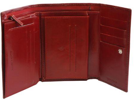 Emporio Valentini usnjena denarnica 256, ženska, rdeča