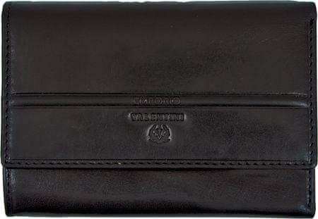 Emporio Valentini usnjena denarnica 256, ženska, črna