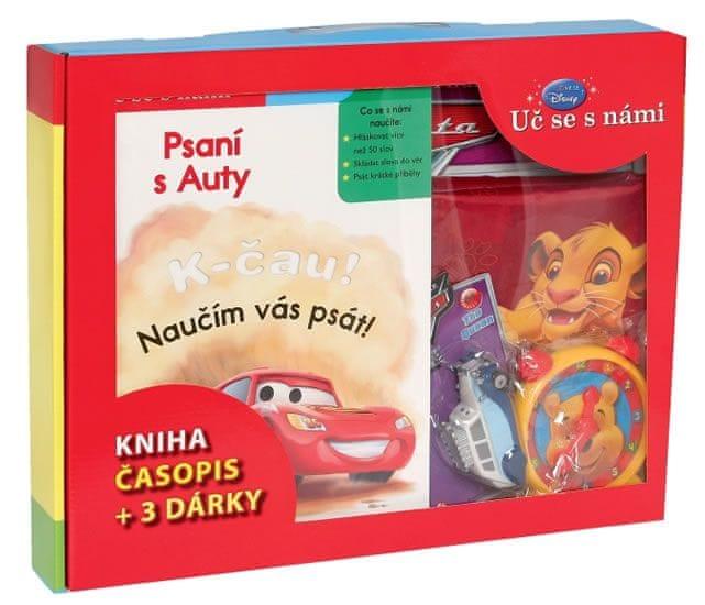 Disney Walt: Kufřík Uč se s námi - Psaní s Auty (kniha, časopis + 3 dárky)