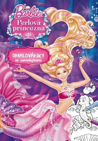 Mattel: Barbie - Perlová princezna - Omalovánky se samolepkami