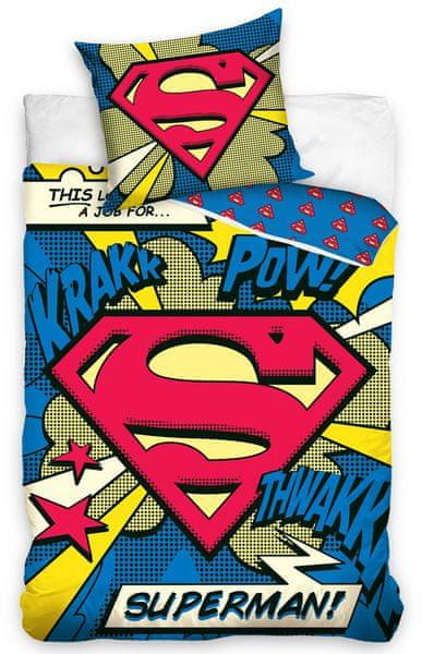 Carbotex Dětské povlečení Superman Komiks