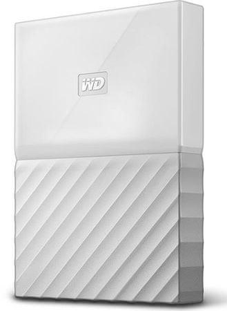 WD zunanji trdi disk My Passport 3 TB, bel (WDBYFT0030BWT-WESN)