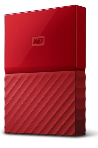 "WD My Passport 4TB / Externí / USB 3.0 / 2,5"" / Red (WDBYFT0040BRD)"