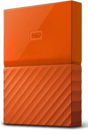 WD zunanji trdi disk My Passport 4 TB, oranžen (WDBYFT0040BOR-WESN)