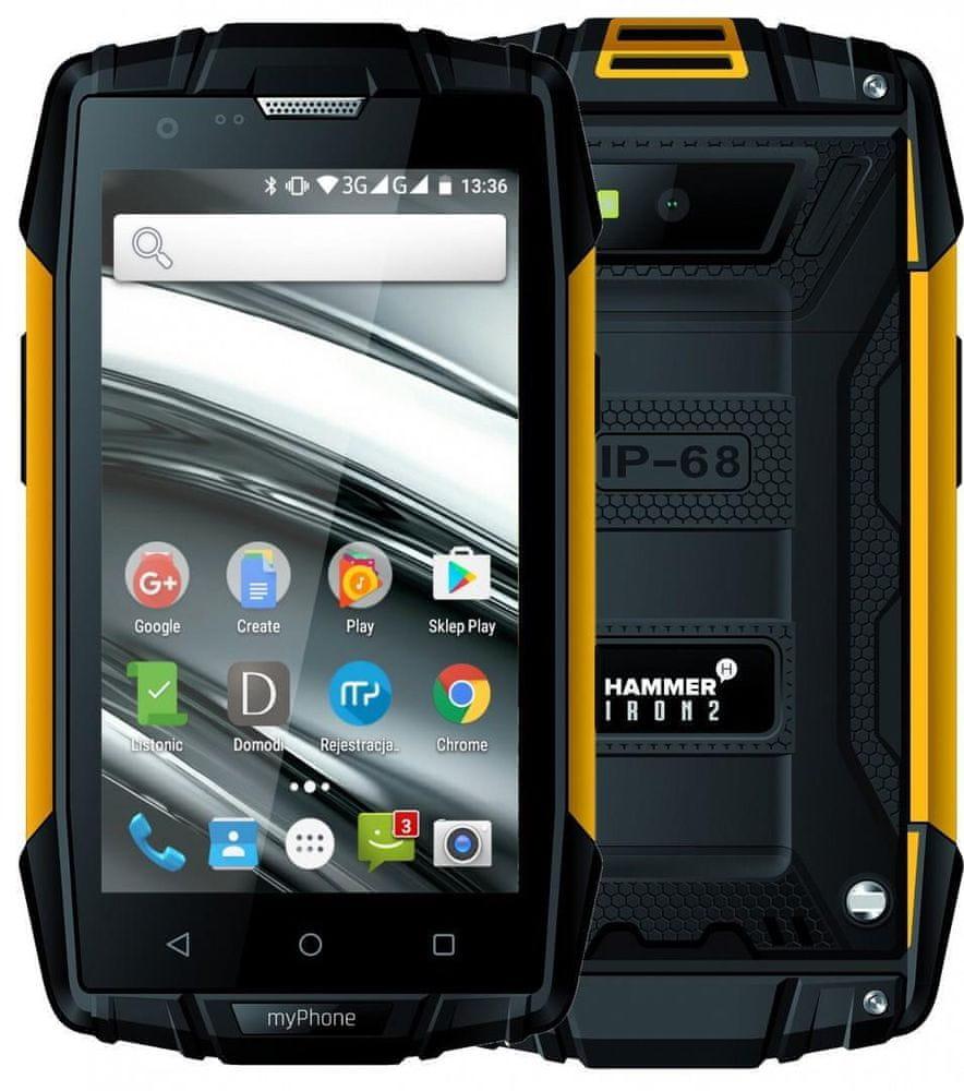 myPhone Hammer Iron 2, 1GB/8GB, oranžový