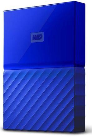 WD zunanji trdi disk My Passport 1 TB, moder (WDBYNN0010BBL-WESN)