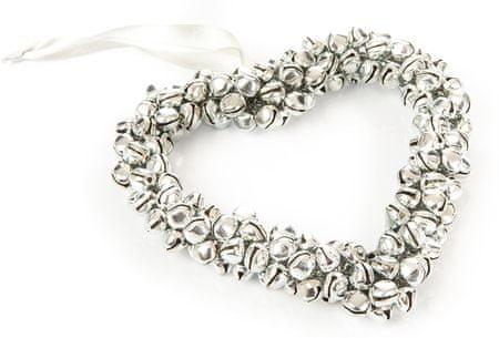 Decorium srce s kraguljčki, srebrn