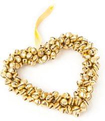 Decorium srce s kraguljčki, zlat