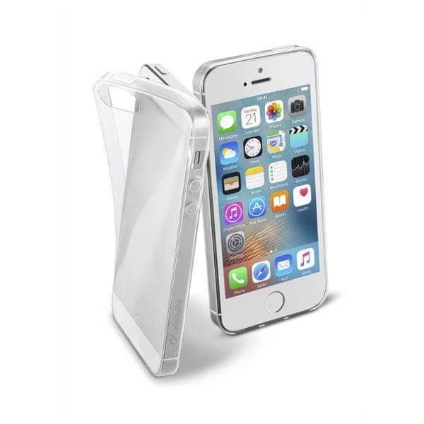 CellularLine zadní kryt Fine, Apple iPhone 5/5S/SE, čirý
