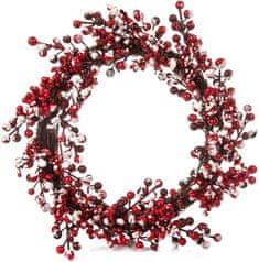 Decorium Věnec Berry červenobílý, 45 cm