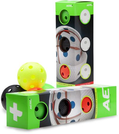 Salming Aero Plus Ball 4-pack, colour mix