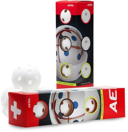 Salming Aero Plus Ball 4-pack, white