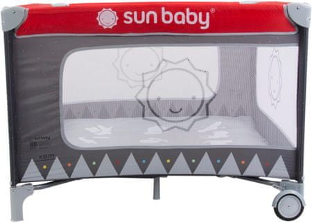 Sun Baby Kojec grafitowo-czerwony Sweet Dreams