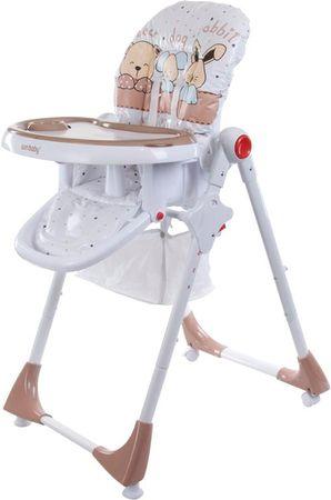 Sun Baby Krzesełko wysokie do karmienia Comfort LUX, morelowe