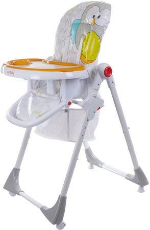 Sun Baby Krzesełko wysokie do karmienia Comfort LUX, szare