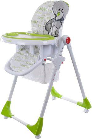 Sun Baby Krzesełko wysokie do karmienia Comfort LUX, zielone