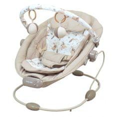 Baby Mix Leżaczek niemowlęcy do 9 kg - z wibracją i melodyjkami