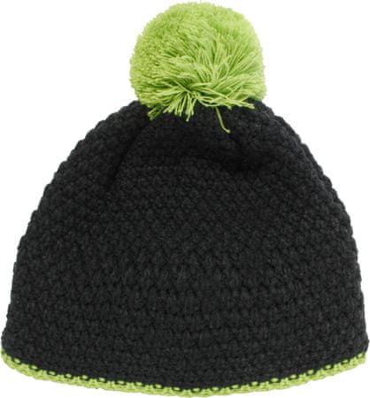 pletena kapa Flake, zeleno-modra
