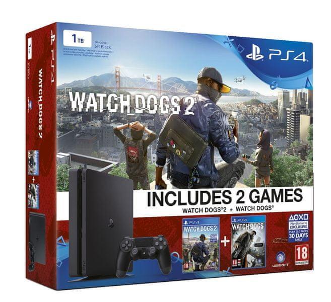 Sony Playstation 4 Slim - 1TB + Watch Dogs 2 + Watch Dogs