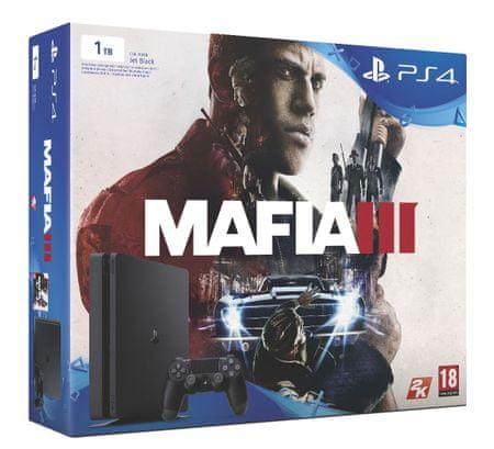 SONY Playstation 4 Slim - 1TB + Mafia 3