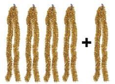 EverGreen Reťaz Chunky lesklá 4 + 1 ks zlatá