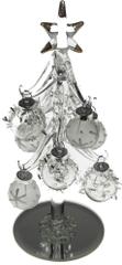 Seizis Stromček sklenený bielo-strieborný